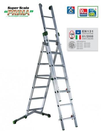 SUPER SCALA PRIMA scala professionale trasformabile in alluminio