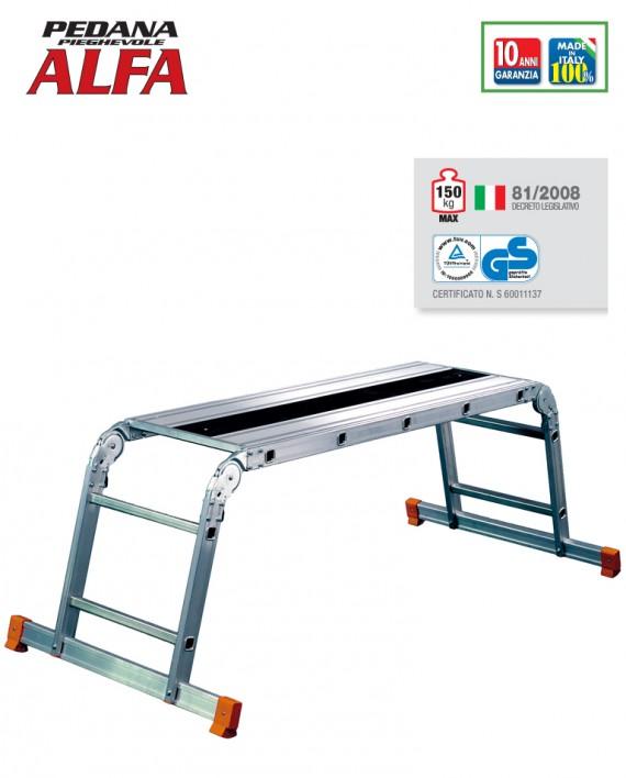 ALFA pedana pieghevole in alluminio