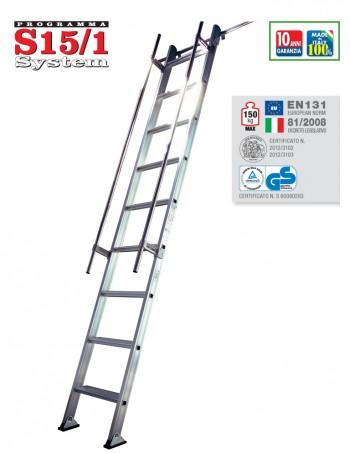 S15/1scala singola d'appoggio in alluminio