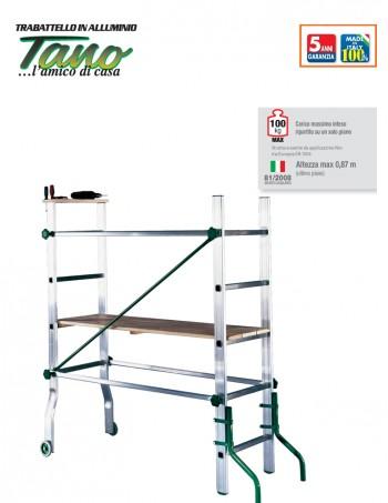 TANO trabattello in alluminio piccolo e solido per uso interno